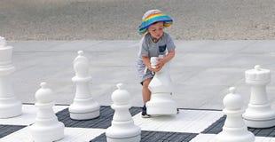 Entdeckung des Schach-Spiels Stockfotos