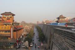 Entdeckung von China: Alte Stadtmauer Xian Stockfoto