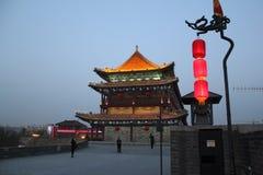 Entdeckung von China: Alte Stadtmauer Xian Lizenzfreie Stockfotos