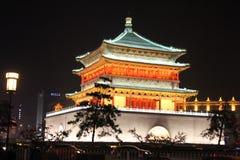 Entdeckung von China: Glockenturm von Xian Stockfotos