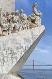 Entdeckungs-Monument - Padrao DOS Descobrimentos, Lissabon, Portugal Lizenzfreie Stockfotografie