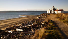Entdeckungs-Park-West Point-Leuchtturm Puget Sound Seattle Lizenzfreies Stockbild