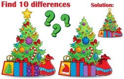 Entdeckungsunterschiede Weihnachtsmotiv Lizenzfreies Stockbild