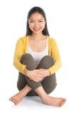 Ente completo della donna asiatica messo Immagini Stock Libere da Diritti