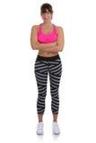 Ente completo esile adatto di giovane di forma fisica di sport della donna condizione di allenamento i Immagini Stock