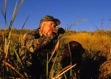 Ente-Jäger und Hund Lizenzfreies Stockbild