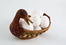 Ente und Eier stockbild