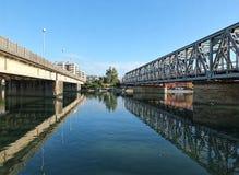 Entella rzeka w chiavari zdjęcia stock