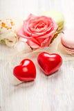 Entend et fond de valentine de bonbons Image stock