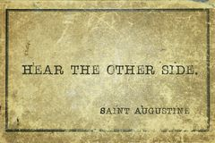 Entendez d'autres St Augustine Images stock