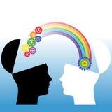 Entendimiento mutuo. Ejemplo conceptual Foto de archivo libre de regalías