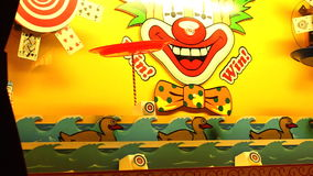 Entenschießen am Karnevalsstand stock video footage