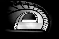 Enter. Stairs or a tunnel? Just a question of perspective Royalty Free Stock Photos