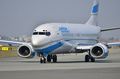 Enter Air plane Royalty Free Stock Photo