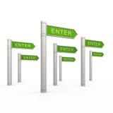 Enter arrows Stock Image
