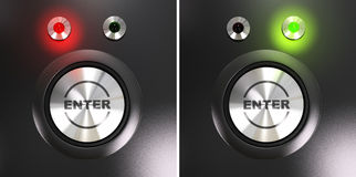Enter button Stock Image