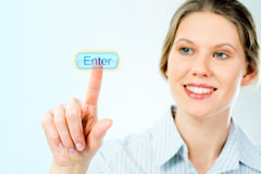 Enter button Royalty Free Stock Photos