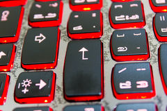 Enter button on the black keyboard. Royalty Free Stock Images
