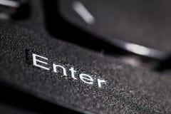 Enter button. Closeup view royalty free stock photography