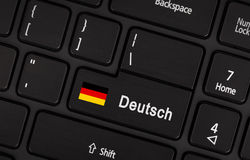 Enter button with flag Germany - Concept of language Stock Images