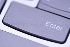 Enter button on keyboard. Element of design. Enter button macro on keyboard. Close up Element of design stock photography