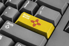 Enter button with New Mexico State Flag Stock Photo