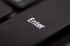 Enter button on the pc keyboard Royalty Free Stock Photo