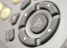 Enter button on remote control. Royalty Free Stock Photos