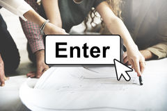 Enter Click Open Load Page Concept Stock Photography