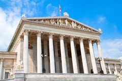 Enter  of the complex of the Parliament in Vienna Royalty Free Stock Photos