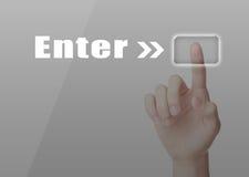 Enter Conception Royalty Free Stock Photos