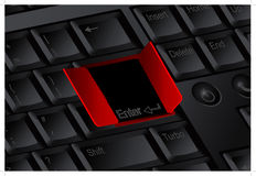 Enter door keyboard, vector isolated by groups Royalty Free Stock Image