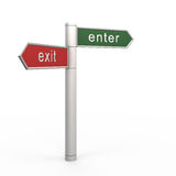 Enter or exit Stock Images
