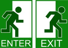 Enter exit Stock Photography