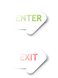 Vector Enter, Exit arrows Stock Image