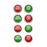 Enter Exit Buttons Stock Images