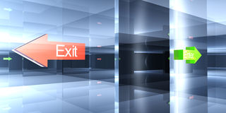 Enter or Exit - Your choice Stock Photo