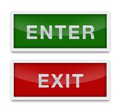 Enter and exite signs isolated stock illustration