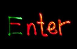 Enter freezelight Royalty Free Stock Photo