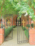 Enter the gates Stock Photo