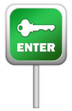 Enter green sign Stock Photo
