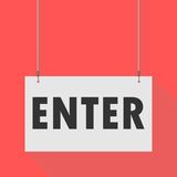 Enter Hanging Sign. Hanging Sign enter, vector icon Royalty Free Stock Images