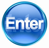 Enter icon blue Royalty Free Stock Photography