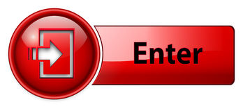 Enter icon, button Stock Photo