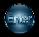 Enter icon dark blue. Royalty Free Stock Images