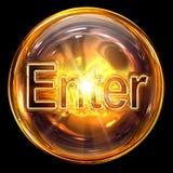Enter icon glass Stock Photography