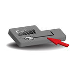 Enter key. Colorful illustration with enter key and red cursor. Access concept Royalty Free Stock Photo