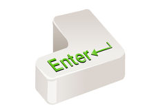 Enter key. Keyboard enter key  in white background Stock Photo