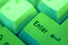 Enter Key (green) Royalty Free Stock Image