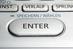ENTER key on a keypad. Details of a dictionary by casio Stock Photo
